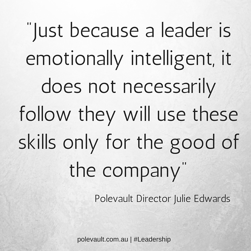 emotionally intelligent polevault leadership training